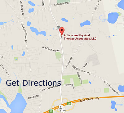 Map Of Active Care Physical Therapy in Dennis MA
